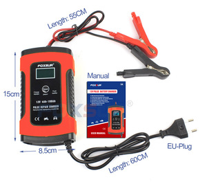 Image 5 - FOXSUR 12V Motorcycle & Car Automatic Intelligent Battery Charger, EFB AGM GEL Pulse Repair Battery Charger with LCD Display