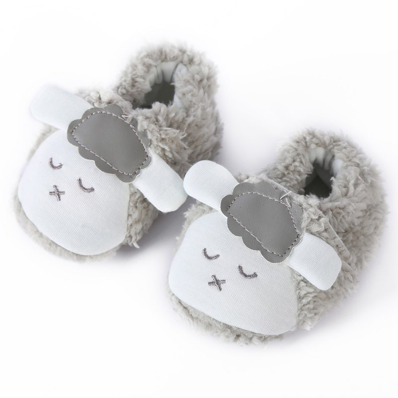 Super Cute Baby Girls Shoes Kids Children Winter Warm Plush Booties Infant Soft Slipper Crib First Walkers