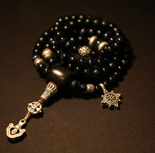 8mm blue tiger eye beads Mala Buddhist 108 prayer beads mala blessed mala Genuine blue cat eye buddhist prayer beads