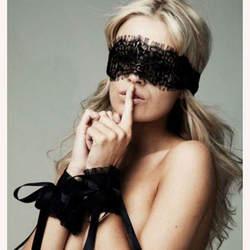 Новые женские сексуальное женское белье Горячая черный кружево глаз Чехлы для мангала с 1 пара Прихватки мангала ручной обёрточная