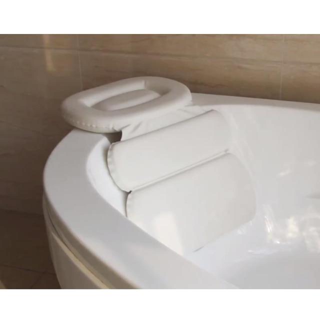 SAFEBET składane wanna poduszka, wodoodporne poduszki do kąpieli oparcie miękkie SPA zagłówek przyssawka poduszka na szyję akcesoria łazienkowe