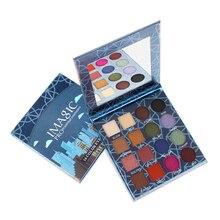 IMAGIC Vintage pigmentos de Color a prueba de agua marca paleta de sombra de ojos 16 Color ahumado Nude Shimmer mate Maquillaje sombra de ojos paleta