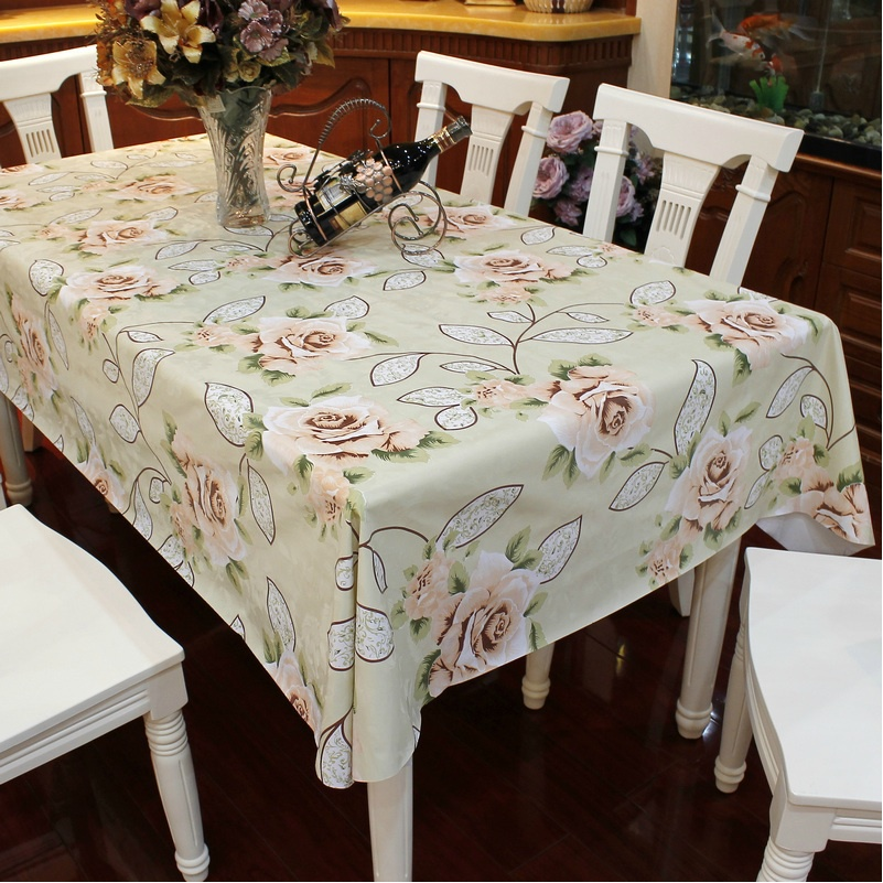Dining Room Tablecloths: HBZ102 Tablecloth Table Cover Cloth Dining Pastoral Beige