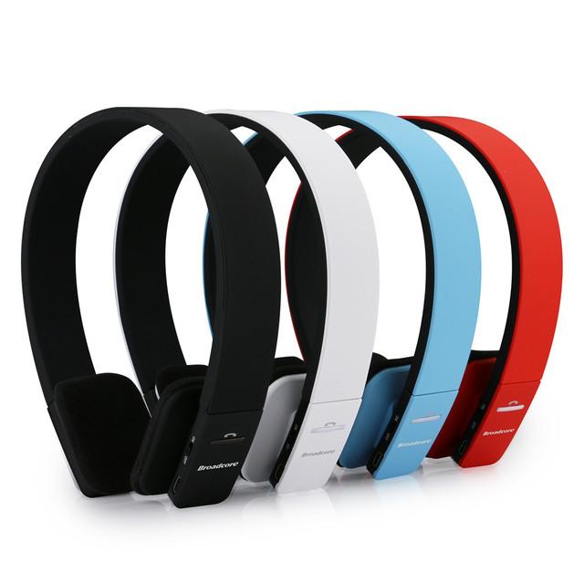 Broadcore reducción de ruido auriculares estéreo bluetooth auricular inalámbrico de auriculares con micrófono para iphone 5 5s para el ipad para tablet pc