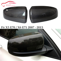 Substituição De Fibra De Carbono Capa Espelho para BMW X5 E70 X6 E71 5 porta SUV 2007 2014 Porta Lateral tampas de Cobertura Do Espelho Retrovisor|Espelho e capas| |  -