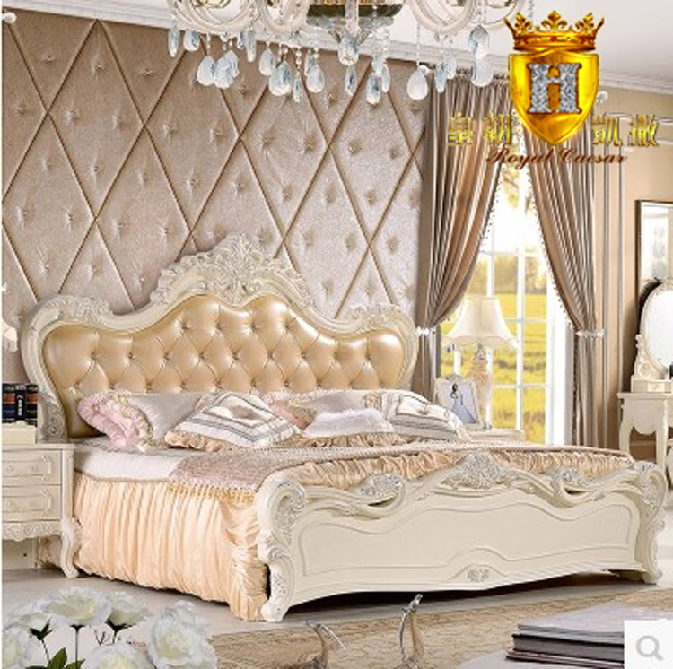 Leather Bed Oak Beds Und: Stylish Furniture Beds Leather Oak Wood Bed Princess