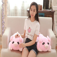 1Pc 55 70Cm Funny Anime Gravity Pink Pig Plush Toy Lying Down Smile Piggie Soft Stuffed Animal Kids Birthday Christmas Gift