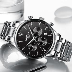 Image 2 - Nibosi 패션 남성 시계 럭셔리 비즈니스 쿼츠 시계 relogio masculino 남성 시계 스포츠 방수 손목 시계 herrenuhren