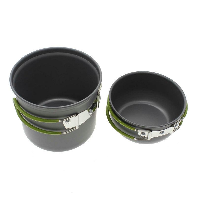 Portable Cooking Picnic Bowl Pot Pan Set for Outdoor Backpacking Camping Hiking