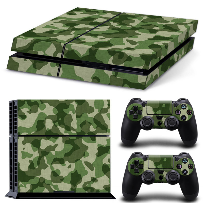 Drop shipping acceptable game decals camo decorative sticker for PS4 console and controllers