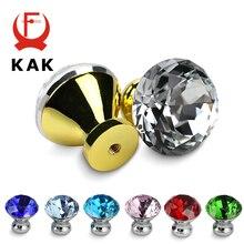 KAK 30 мм кухонный шкаф ручки Алмазная форма дизайн хрустальные стеклянные ручки шкаф ручки для выдвижных ящиков оборудование для обработки мебели