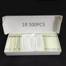 500 peças/caixa tatuagem 1r agulhas para sobrancelha permanente e lábio munsu maquiagem máquina 0.35mm * 50mm frete grátis