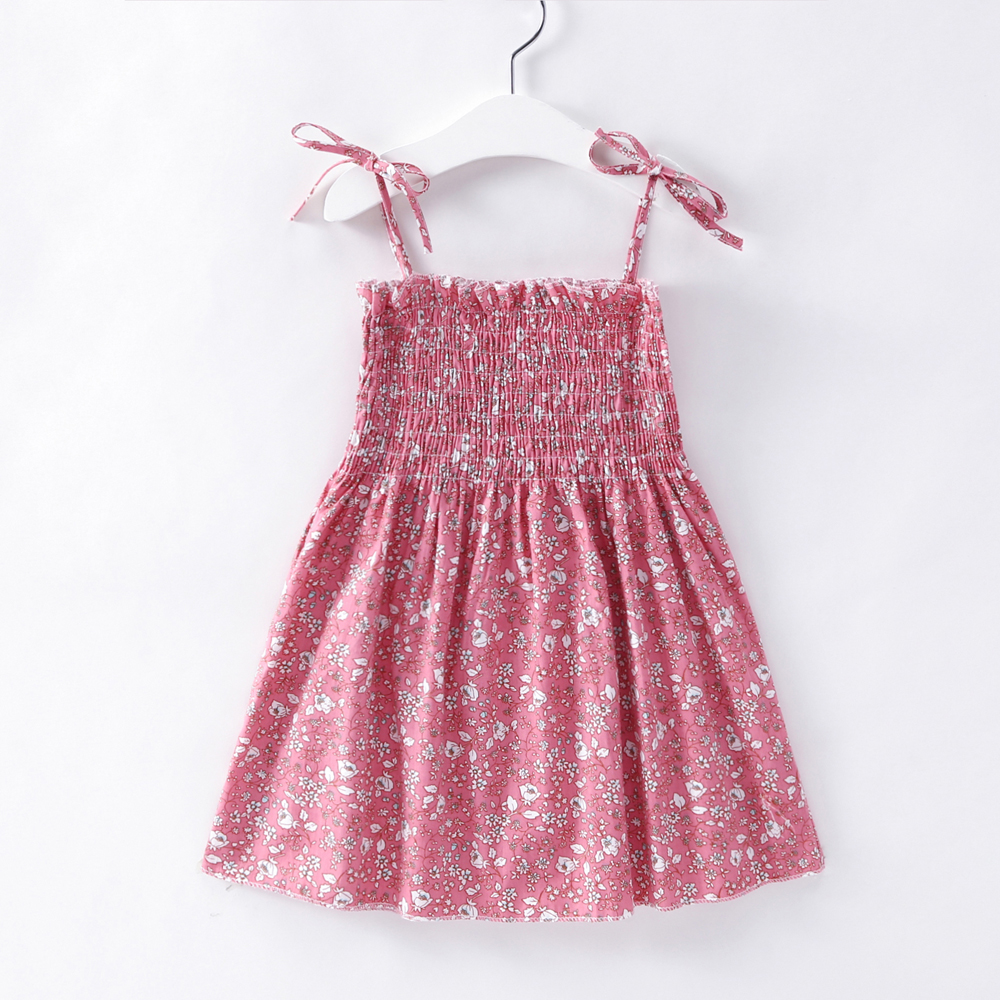 HTB10fypwv5TBuNjSspcq6znGFXaB Kids Dresses for Girls Summer Girl Sleeveless Dress Toddler Flower Print Princess Dress 1 2 3 4 5 6 7 Years Children's Clothing