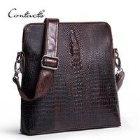 Guarantee Genuine Leather Men Bags Handmade Alligator Famous Brand Design Leather Messenger Bag High Quality Man