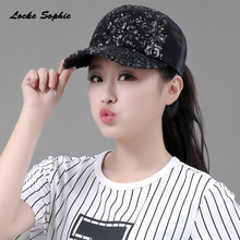 1pcs Womens Sun beret hats Caps 2019 Summer New Fashion Splicing Sequins breathe Peaked Hats Ladies Keep warm Lovely