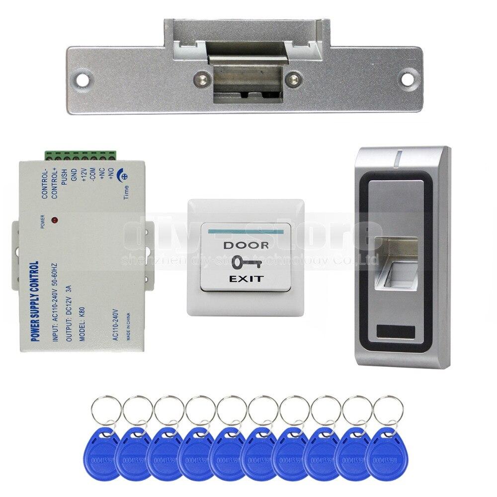 Diysecur fingerprint 125khz rfid id card reader door for Door access controller