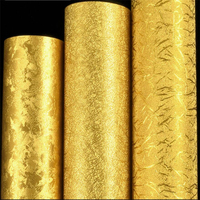 papel de parede Gold foil wallpaper gold yellow silver ktv hotel living room brushed ceiling Chinese style ceiling 3d wallpaper