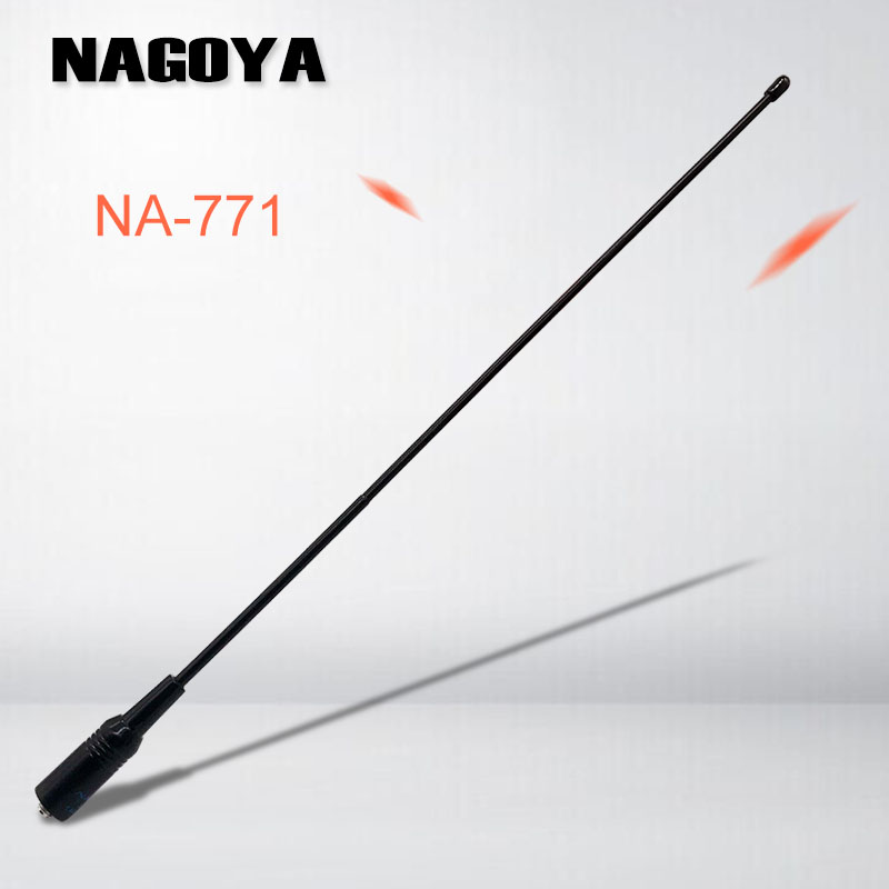 2PCS Nagoya NA-771 Antenna For Baofeng Walkie Talkie High Gain Signal Extend NA771 SMA-F Portable Radio UV-5R UV-82 BF-888S