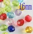 Retail 100 unids DIY grande Clear Faceta de Acrílico plástico Perlas de Perlas Accesorios de la joyería a granel