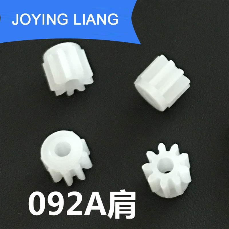 092A Shoulder 0.5M Gears 9 Teeth Pom Plastic Pinion 2mm Motor Shaft Tight Fitting Wheel Module 0.5 Toy DIY Parts 5000pcs/bag