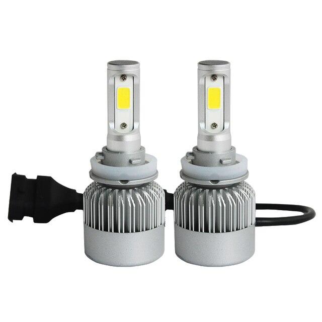 1 пара 72 Вт 8000lm H8 H9 H11 cob Автомобиль Авто Фар комплект лампы светодиодные противотуманные фары DRL с Вентилятором Играть & Зажигания H7 H1 HB3 HB4 9005 9006