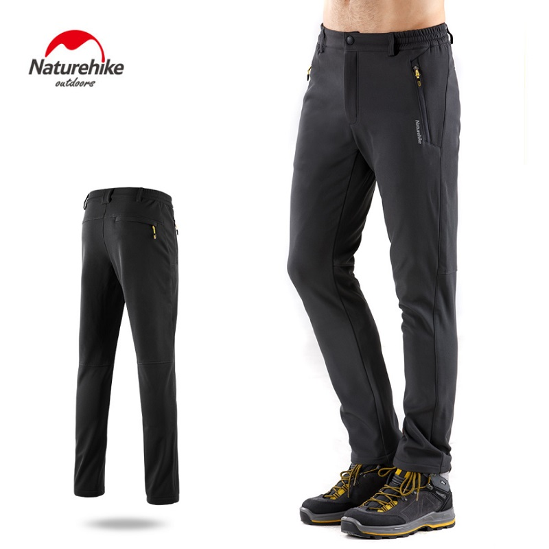 Naturehike chongfeng Pants Men Plus Velvet Thicken Women Outdoor Autumn Winter Windproof Waterproof Mountaineering Softshell