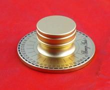 Kaolanhon 60 مللي متر مع محفورة غرامة كامل الألومنيوم هيكل مكبر للصوت الجهد حجم مقبض الذهب مكبرات