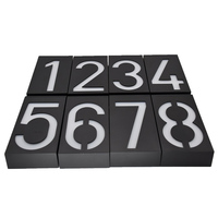 Solar Lamp 6 LED Light Sign House Hotel Door Address Plaque Number Digits Plate CLH 8