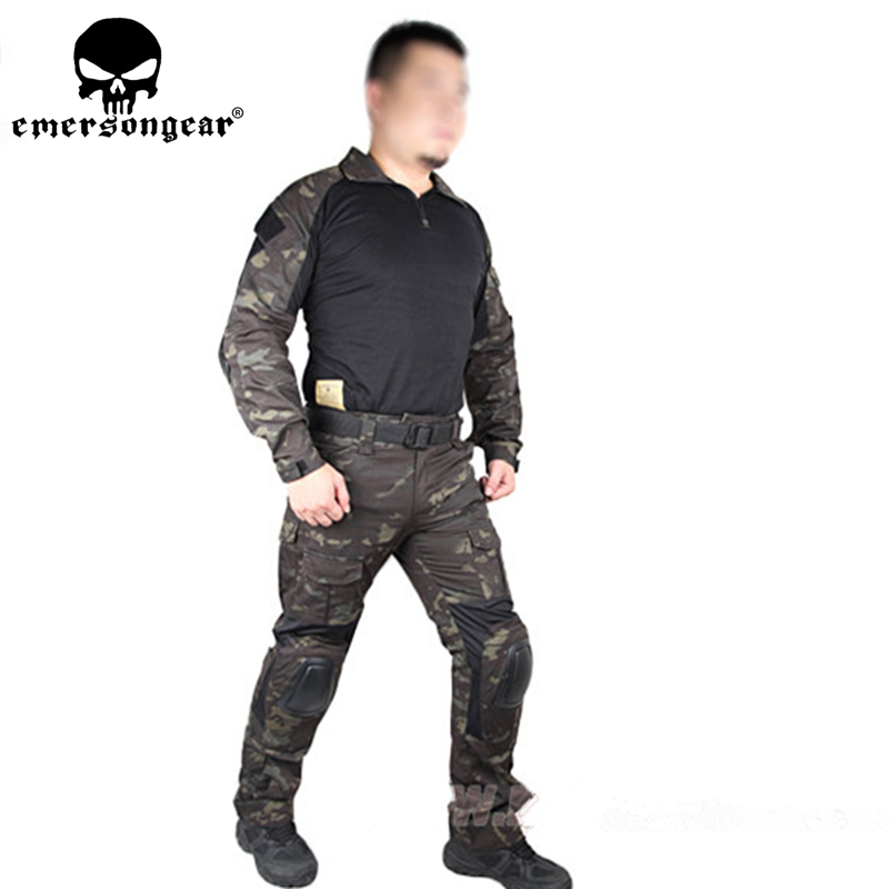 EMERSON Gen2 BDU combat Uniform Airsoft training Shirt & Pants Set with elbow knee pads Suits MCBK Multicam Black EM6971 classic world natural wood hand crafted brain teaser candy color gear game educational toys puzzles for children material learn