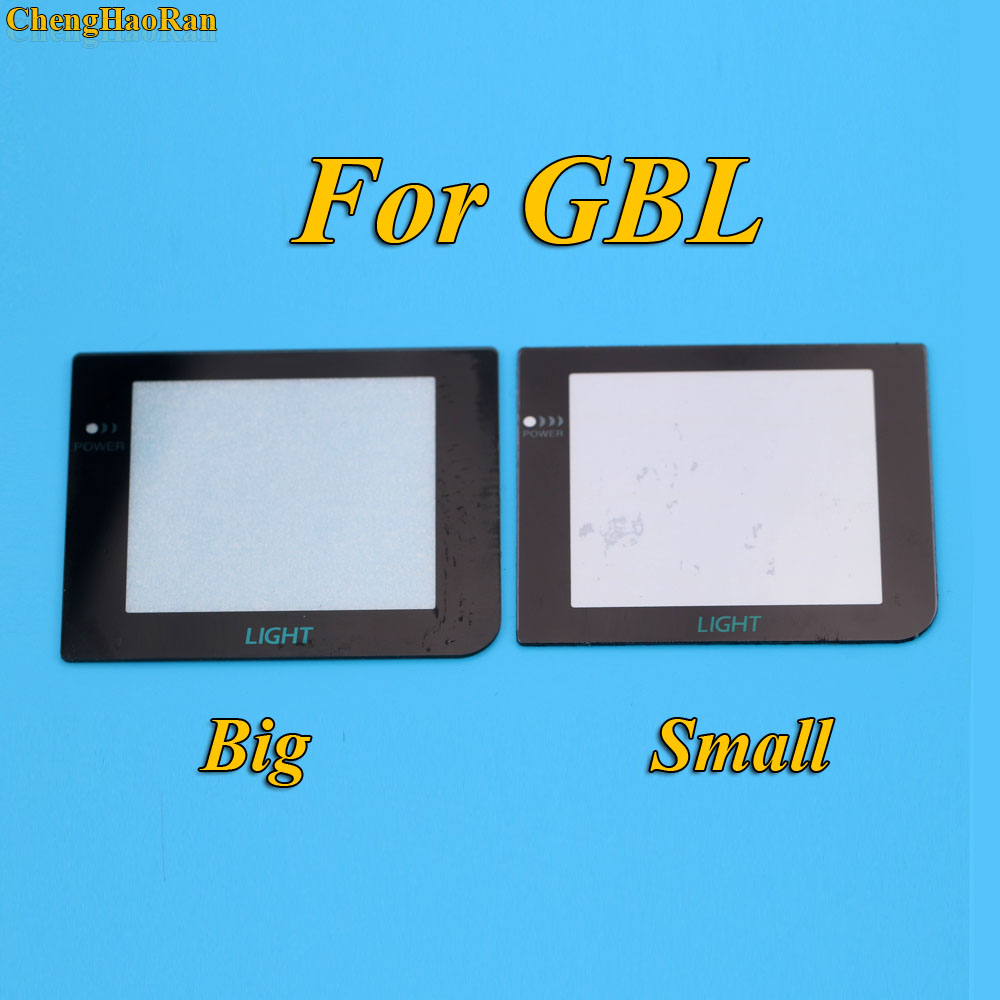 Купить с кэшбэком ChengHaoRan 16 models Glass Material Screen Lens for Gameboy GB/GBA/GBC/GBA SP/3DS/GBP/GBL Game Console replacement repair parts