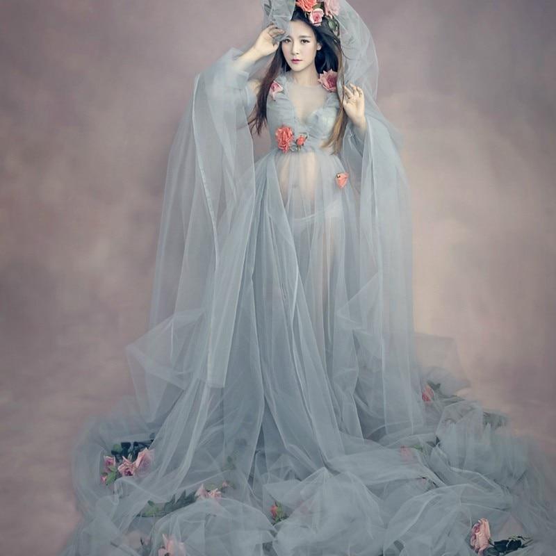 Элегантное кружевное Средства ухода за кожей для будущих мам платье для фото Стрельба модные милые Средства ухода за кожей для будущих мам ...