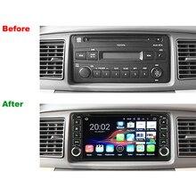 Universa Radio 2 Din RAM 2 GB Android 7.1 Tablet PC Del Coche GPS DVD Para Toyota Viejo Corolla Camry RAV4 Prado Reproductor Multimedia