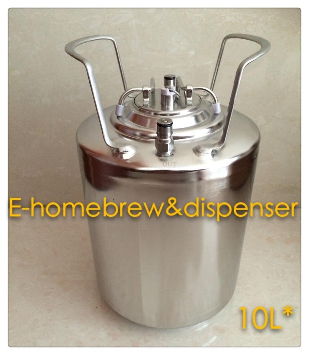 10L výčepní pivní sud, zbrusu nový, z nerezové oceli, 304, - Kuchyně, jídelna a bar