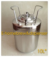 10L Draft Beer Keg ,Brand New, 304 Stainless Steel Ball Lock Cornelius style Beer Keg , Closure Lid with Pressure Relief Valve