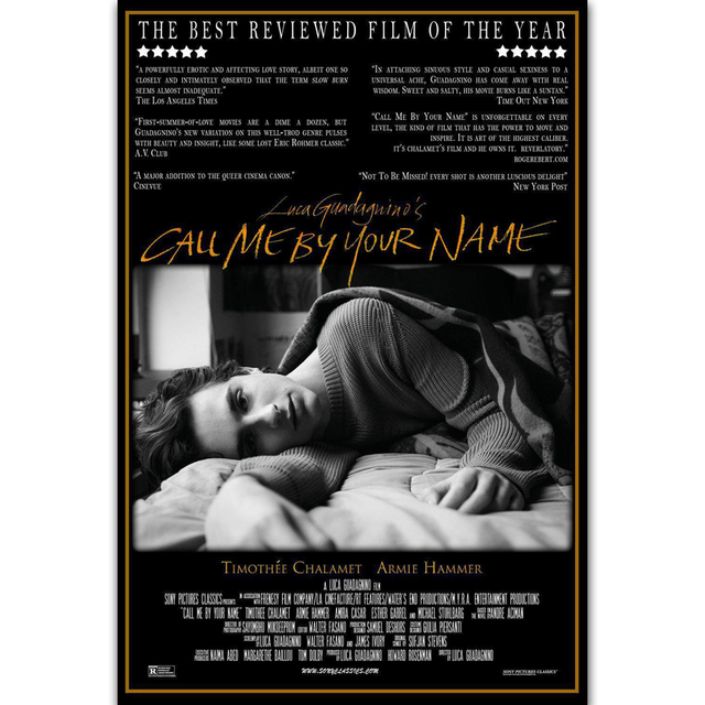 Mq615 Call Me By Your Name Movie Luca Guadagnino Film Hot New Art