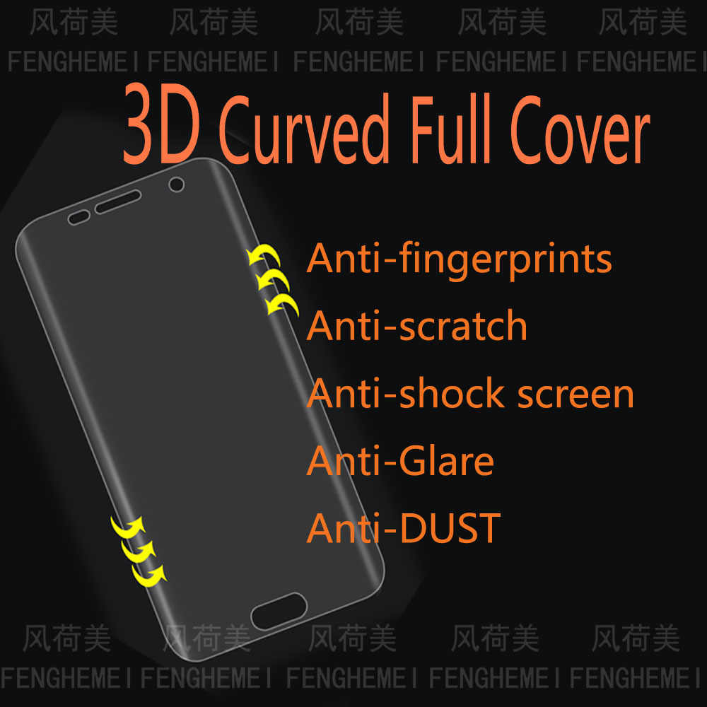 FENGHEMEI 3D Curved Full Screen Protector For Samsung S8 S9 Plus Note 8 9 S10 Lite Plus (Not Tempered Glass)