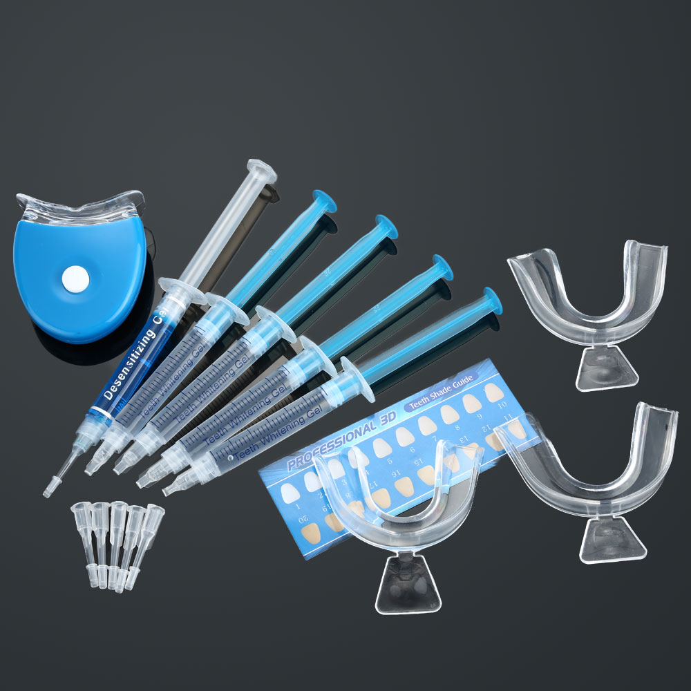 Pro Отбеливание зубов отбеливания зубов дома Применение отбелить + гель капы + светло Средства ухода за мотоциклом комплект стоматологического оборудования