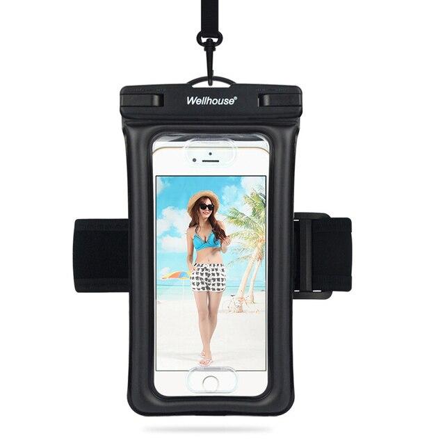 L38 водонепроницаемый чехол для телефона сухой мешок сумка, держатель для телефона с повязкой и отверстием для наушников Floatable для плавания п...