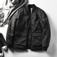 new arrival 2018 man duck down overcoat safari style short parkas jacket for male black plus big large size xxxxxl 3xl 4xl 5xl