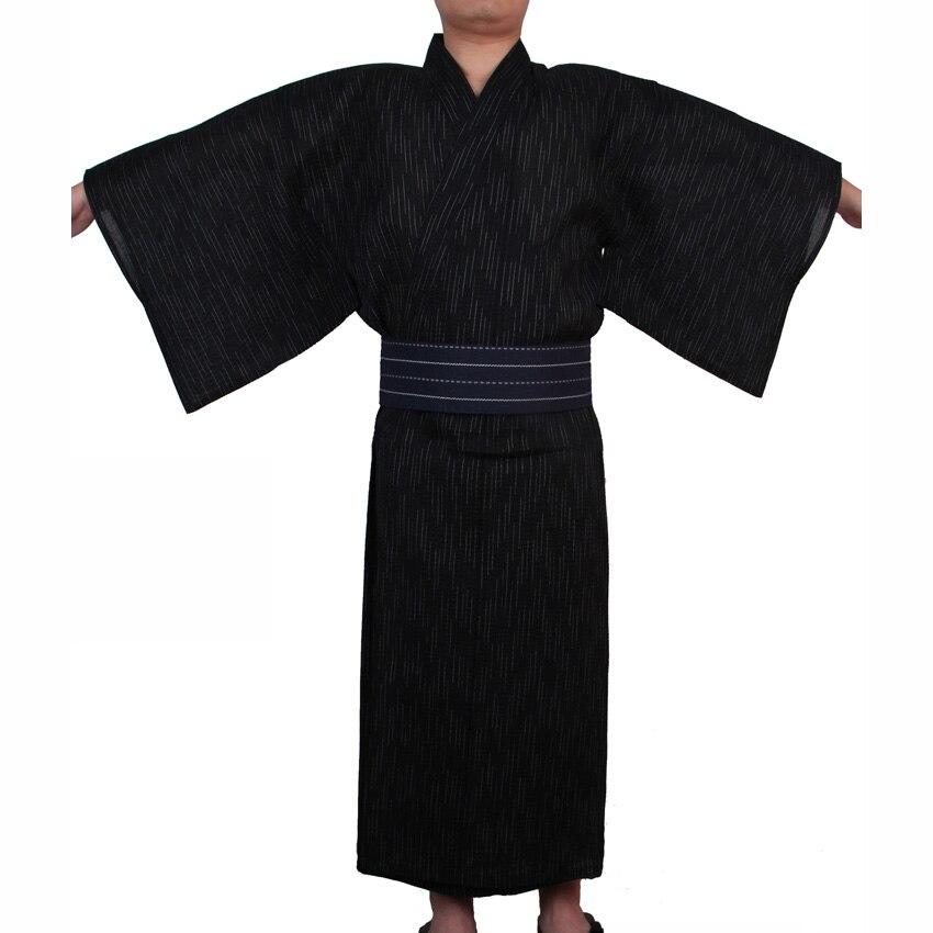 Disfraces de samurái japoneses para hombre Kimono Jinbei ropa de casa suelta de algodón negro Yukata ropa tradicional pijamas bata de noche Figura de anime original japonesa FGO/Gran Orden figura de acción Astolfo juguetes coleccionables para niños
