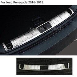 Karoseria ze stali nierdzewnej wewnętrzna tylna listwa wykończeniowa bagażnika zderzak rama próg pedał dla Jeep Renegade 2016 2017 2018 2019 2020