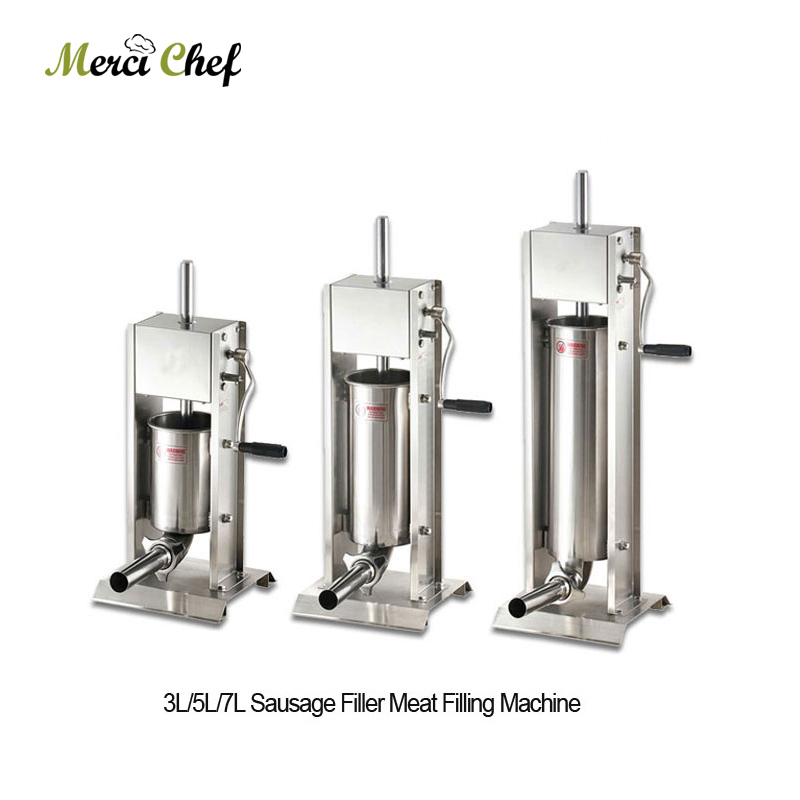 Sausage Machine Food Machine Brand New 3L/5L/7L Sausage Filler Meat Filling Machine Manual Stuffer Commercial Food Processors