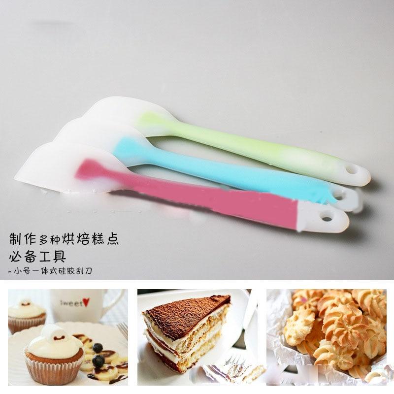 1Pc Cake Butter Cream Spatula Oil Bread Scraper Brush Baking Silicone Tool Maker 2017 Hot Sale