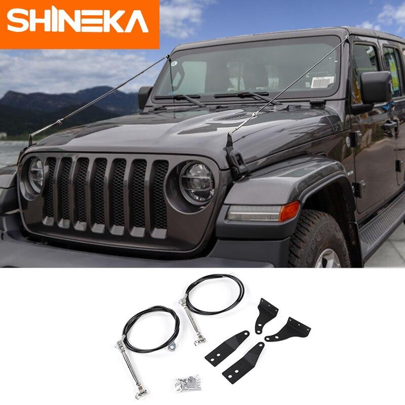 SHINEKA cadres de protection pour Jeep Wrnagler JL accessoires 2018 Obstacle éliminer corde protecteur dévier Branches suspendues brosse