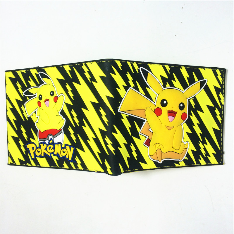 2018 Hot Game Pokemon Go Wallets Cute Cartoon Pocket Monster Wallets BilleteraFor Teenager Boy Girl Leather Money Bag Purse W358