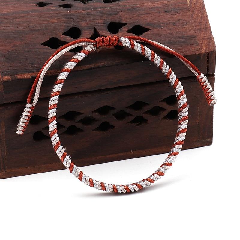 Tibetan Buddhist Lucky Bracelets Bangles For Men Woman Handmade Knots Red Rope Wrap Armband Amulet Rosary Bracelet Homme 2019