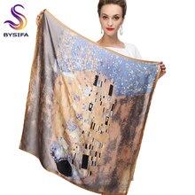 חורף אביזרי חאקי כיכר צעיפי מודפס עבור גבירותיי אופנה אוהבי 100% טבעי משי צעיף מודפס 90*90cm סתיו צעיפים