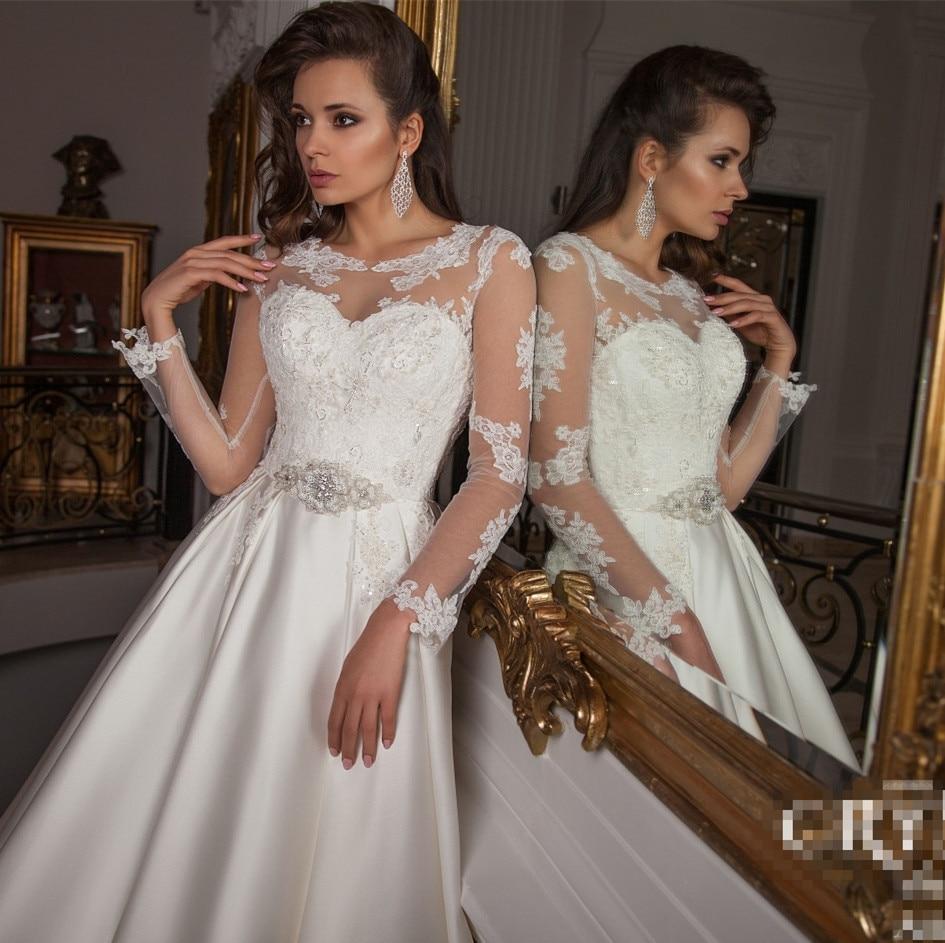 Perfect Elegant 2016 Lace Wedding Dress Lace Swarovski