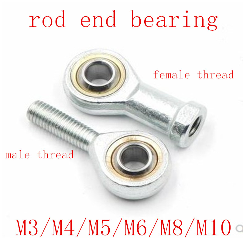 1pc/lot M4 M5 M6 M8 M10 male thread or female thread right or left hand thread rod end Joint bearing