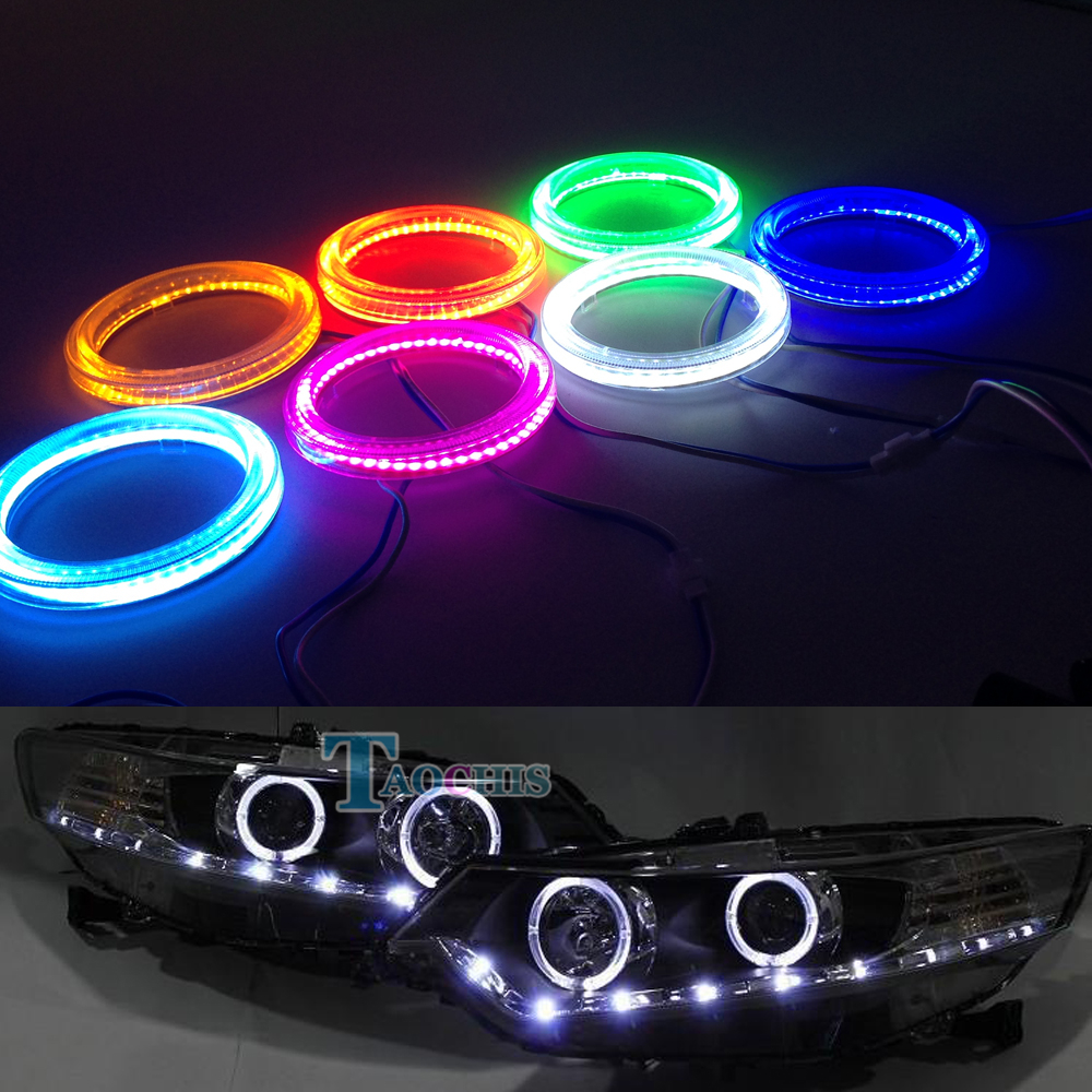 Decorative Lamp COB Auto Halo Rings DRL Angel Eye Chips FOR Headlight Foglamp Car Lampshades Bright Demon Eye Day Running Light 1pair white 80mm cob car led angel eyes drl daytime running headlight halo ring driving lamp auto blub with cover 63 chips 12v